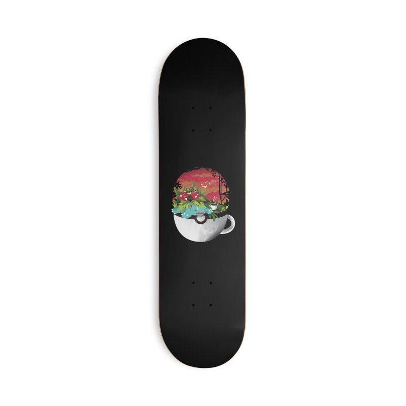 Coffeemon Grass Accessories Skateboard by dandingeroz's Artist Shop