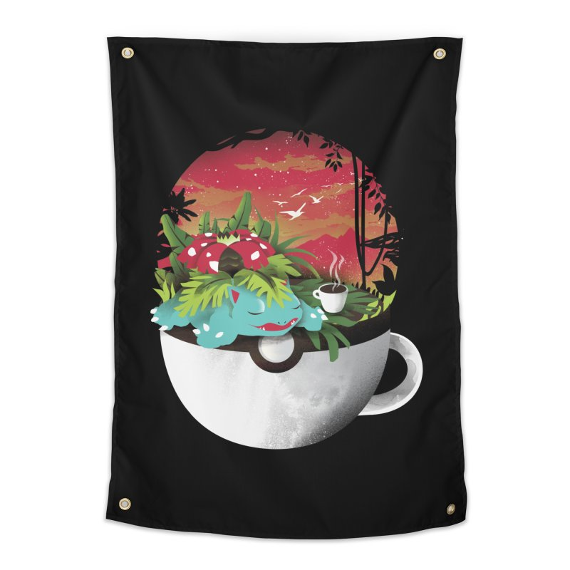 Coffeemon Grass Home Tapestry by dandingeroz's Artist Shop