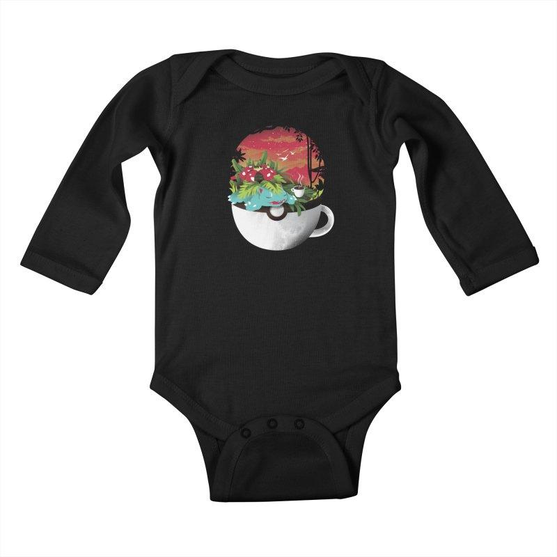 Coffeemon Grass Kids Baby Longsleeve Bodysuit by dandingeroz's Artist Shop