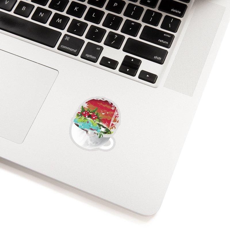 Coffeemon Grass Accessories Sticker by dandingeroz's Artist Shop