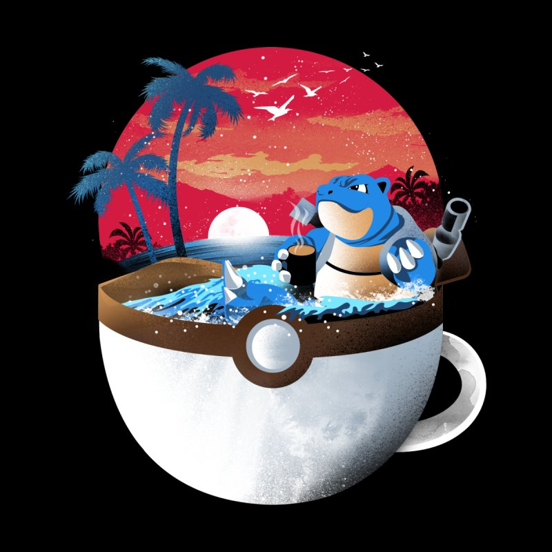 Coffeemon Water Kids T-Shirt by dandingeroz's Artist Shop