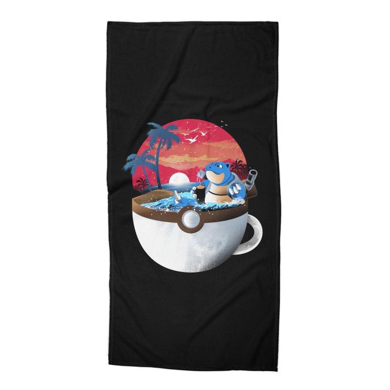 Coffeemon Water Accessories Beach Towel by dandingeroz's Artist Shop