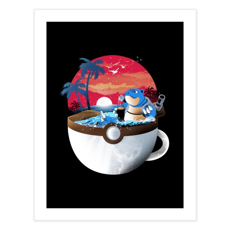 Coffeemon Water Home Fine Art Print by dandingeroz's Artist Shop