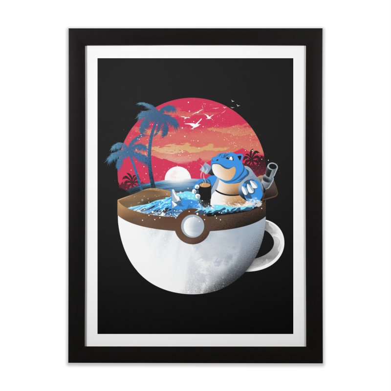 Coffeemon Water Home Framed Fine Art Print by dandingeroz's Artist Shop