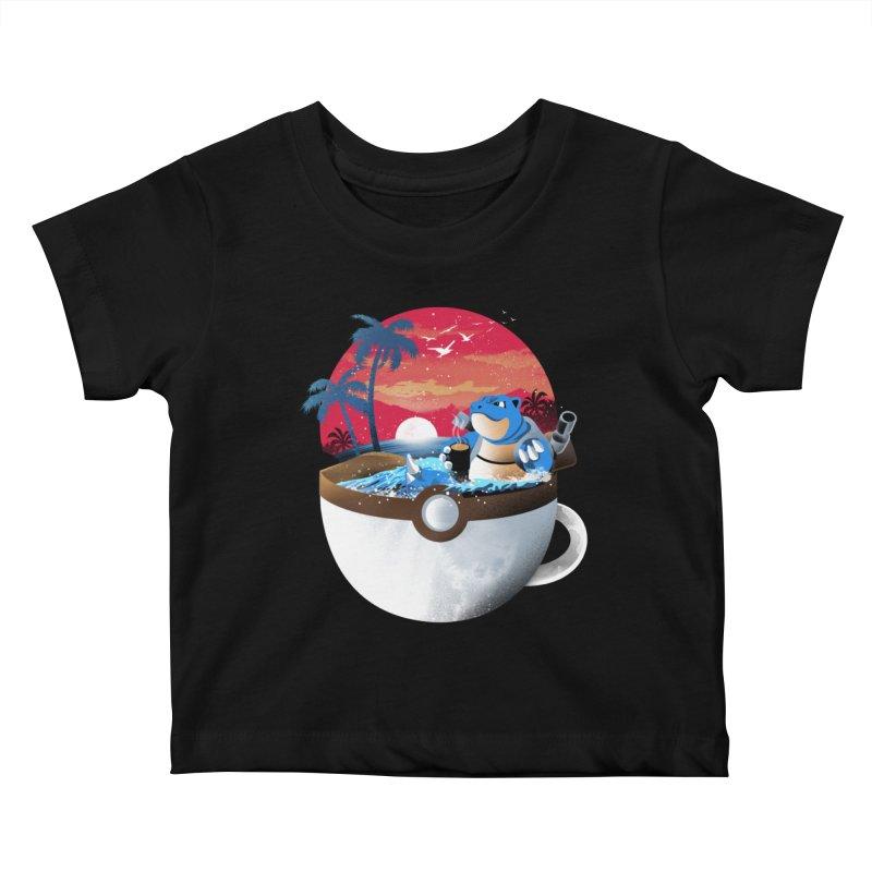 Coffeemon Water Kids Baby T-Shirt by dandingeroz's Artist Shop