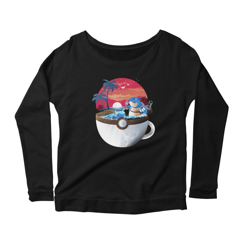 Coffeemon Water Women's Longsleeve T-Shirt by dandingeroz's Artist Shop