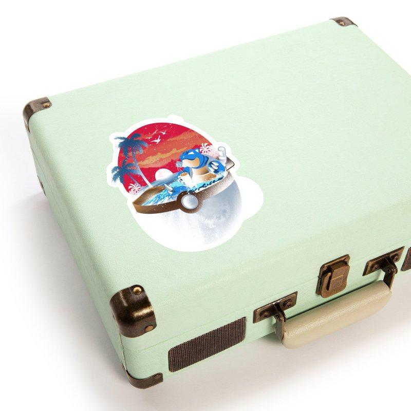 Coffeemon Water Accessories Sticker by dandingeroz's Artist Shop