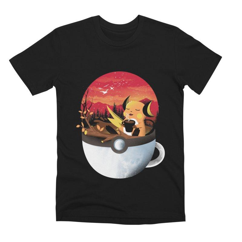 Coffeemon Thunder Men's T-Shirt by dandingeroz's Artist Shop