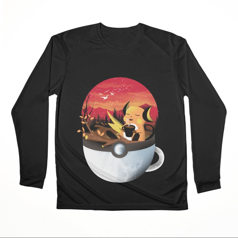 Coffeemon Thunder Women's Longsleeve T-Shirt by dandingeroz's Artist Shop