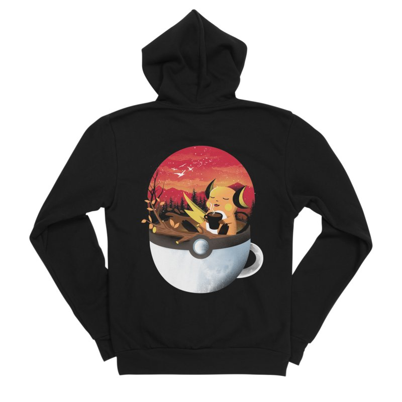 Coffeemon Thunder Men's Zip-Up Hoody by dandingeroz's Artist Shop