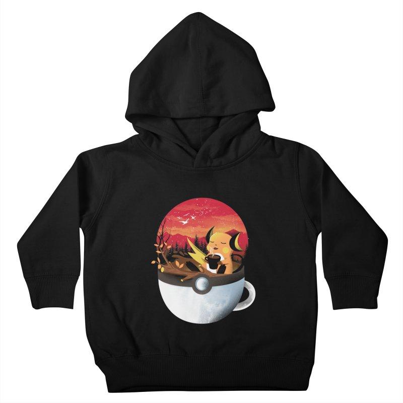 Coffeemon Thunder Kids Toddler Pullover Hoody by dandingeroz's Artist Shop