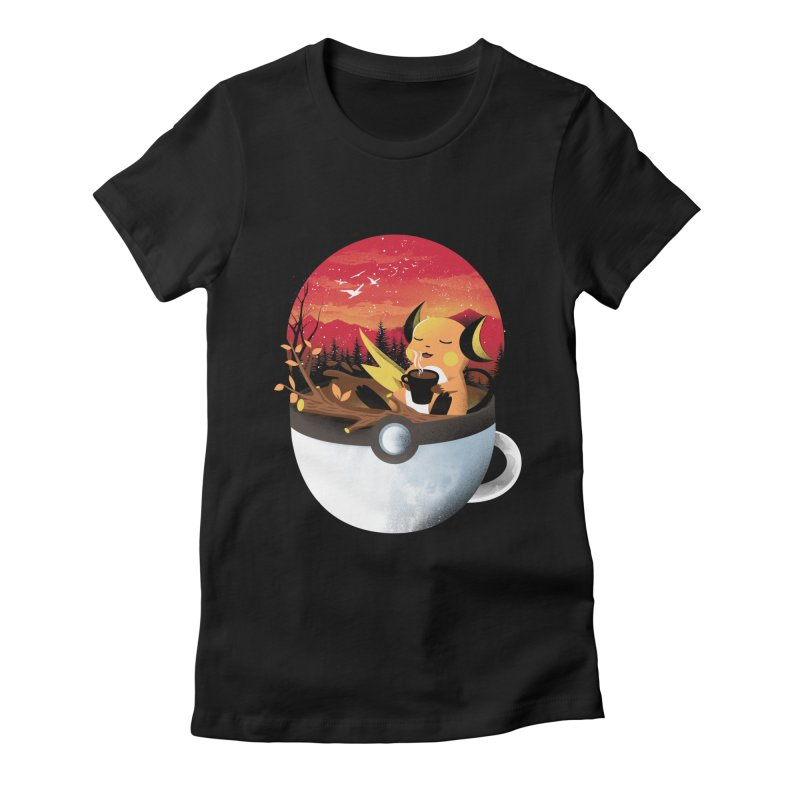 Coffeemon Thunder Women's T-Shirt by dandingeroz's Artist Shop