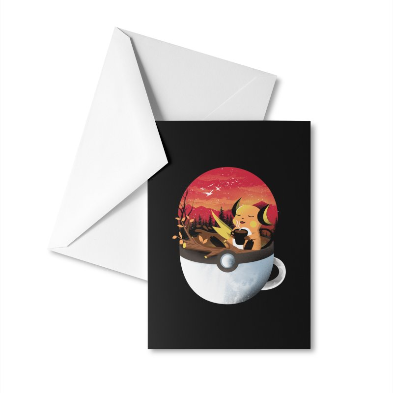 Coffeemon Thunder Accessories Greeting Card by dandingeroz's Artist Shop