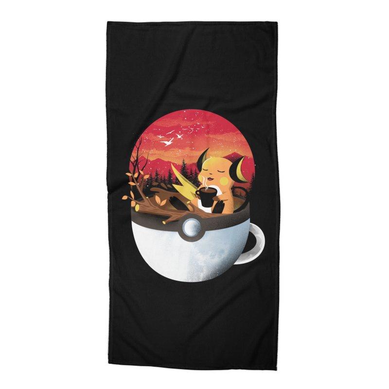 Coffeemon Thunder Accessories Beach Towel by dandingeroz's Artist Shop