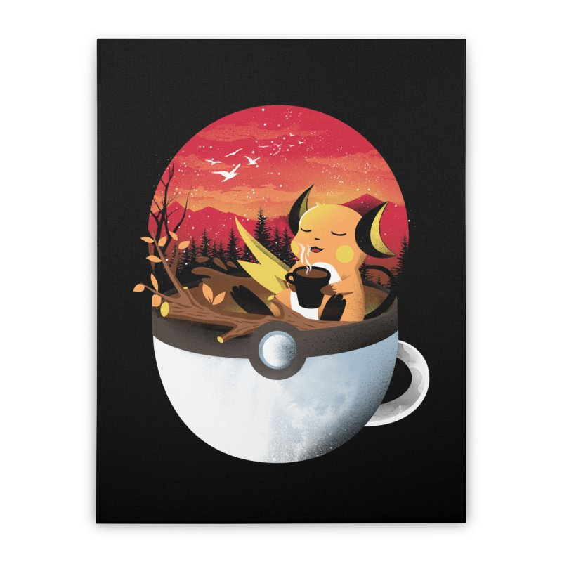 Coffeemon Thunder Home Stretched Canvas by dandingeroz's Artist Shop