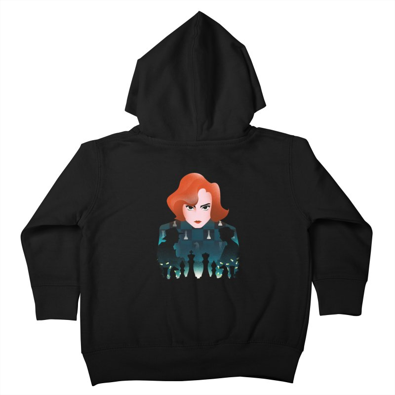 The Queen's Gambit Kids Toddler Zip-Up Hoody by dandingeroz's Artist Shop