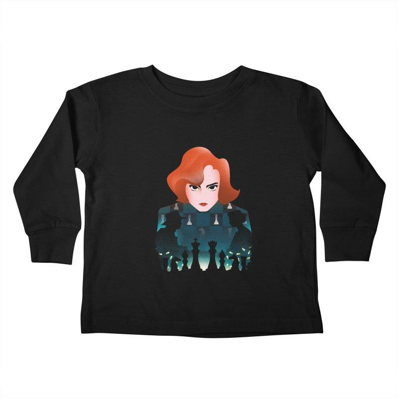 The Queen's Gambit Kids Toddler Longsleeve T-Shirt by dandingeroz's Artist Shop