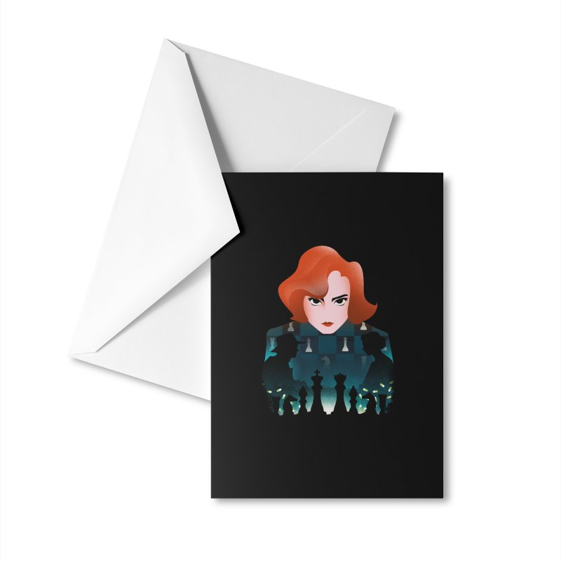 The Queen's Gambit Accessories Greeting Card by dandingeroz's Artist Shop