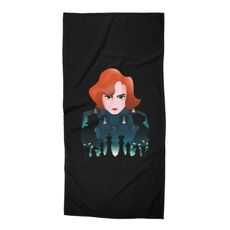 The Queen's Gambit Accessories Beach Towel by dandingeroz's Artist Shop