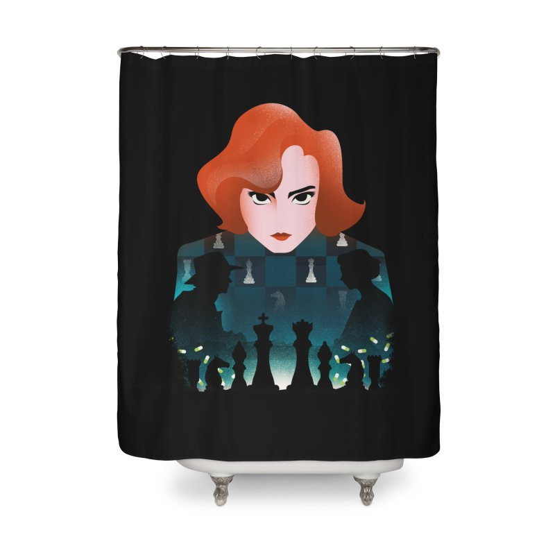 The Queen's Gambit Home Shower Curtain by dandingeroz's Artist Shop