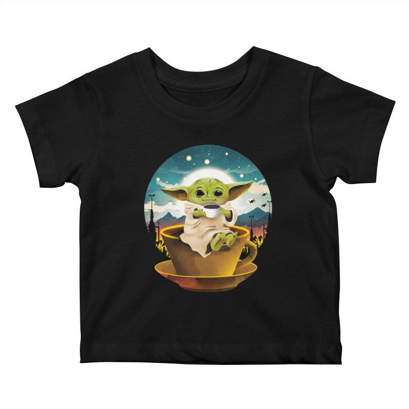 Coffee Child Kids Baby T-Shirt by dandingeroz's Artist Shop