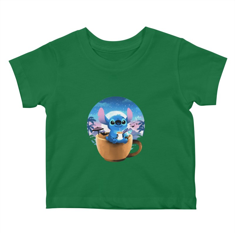 Hawaiian Coffee Kids Baby T-Shirt by dandingeroz's Artist Shop