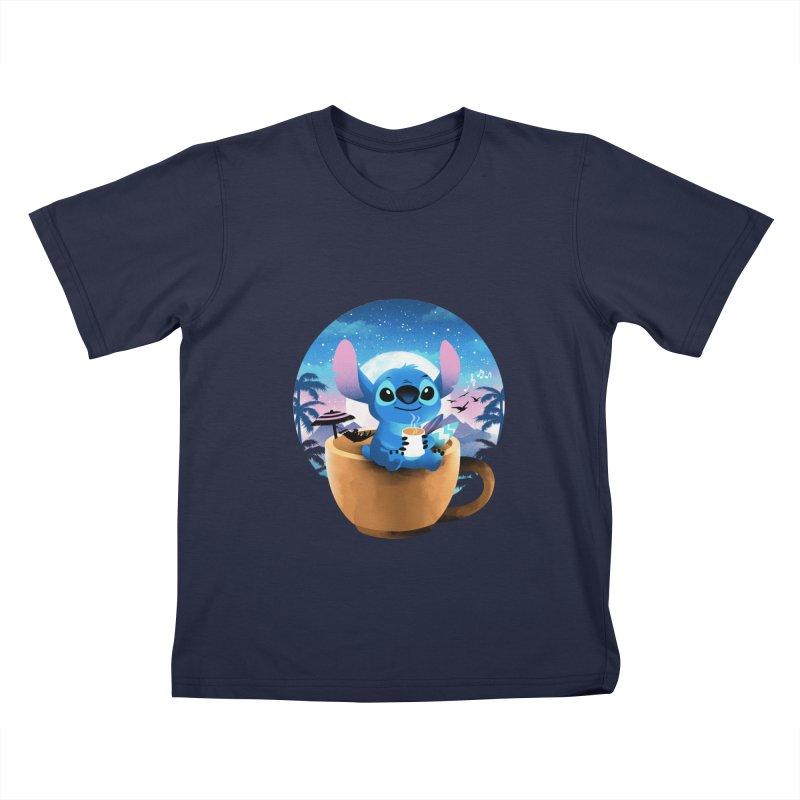 Hawaiian Coffee Kids T-Shirt by dandingeroz's Artist Shop