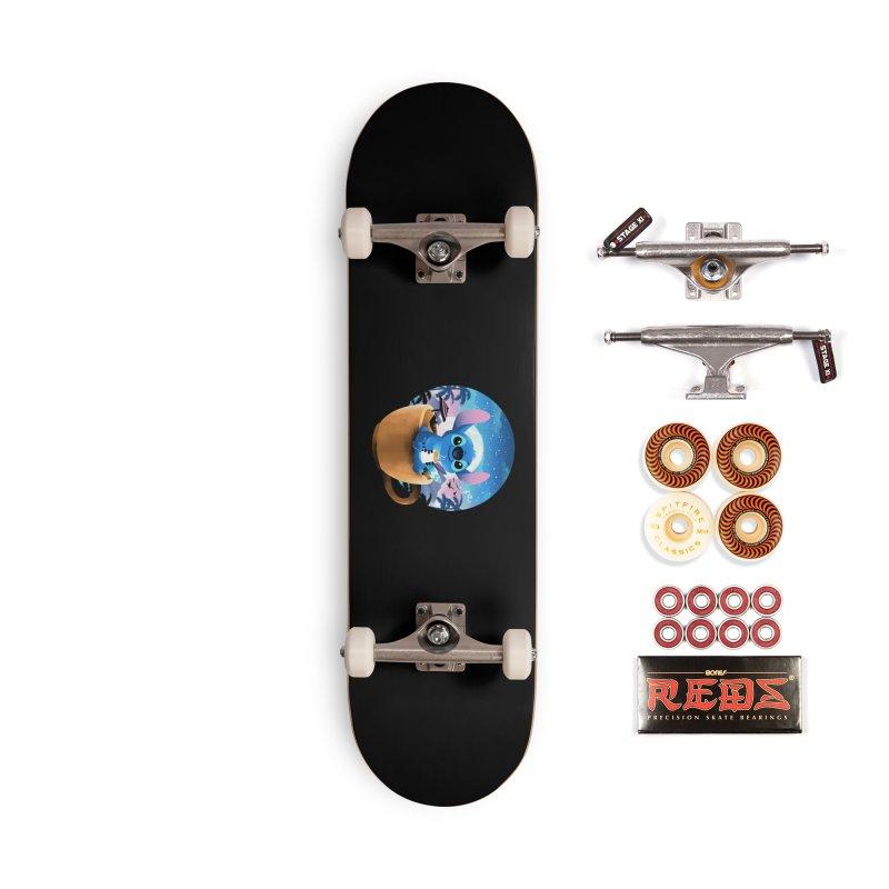 Hawaiian Coffee Accessories Skateboard by dandingeroz's Artist Shop