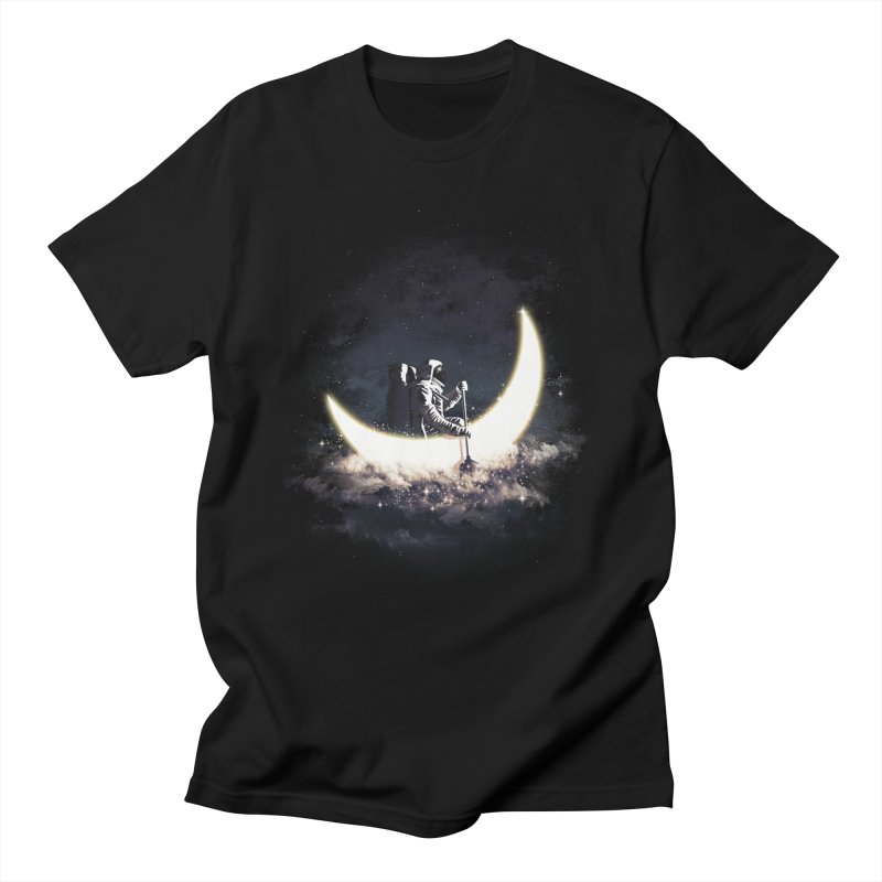 Moon Sailing in Men's Regular T-Shirt Black by dandingeroz's Artist Shop