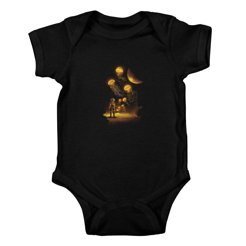 Deep Space Diver Kids Baby Bodysuit by dandingeroz's Artist Shop