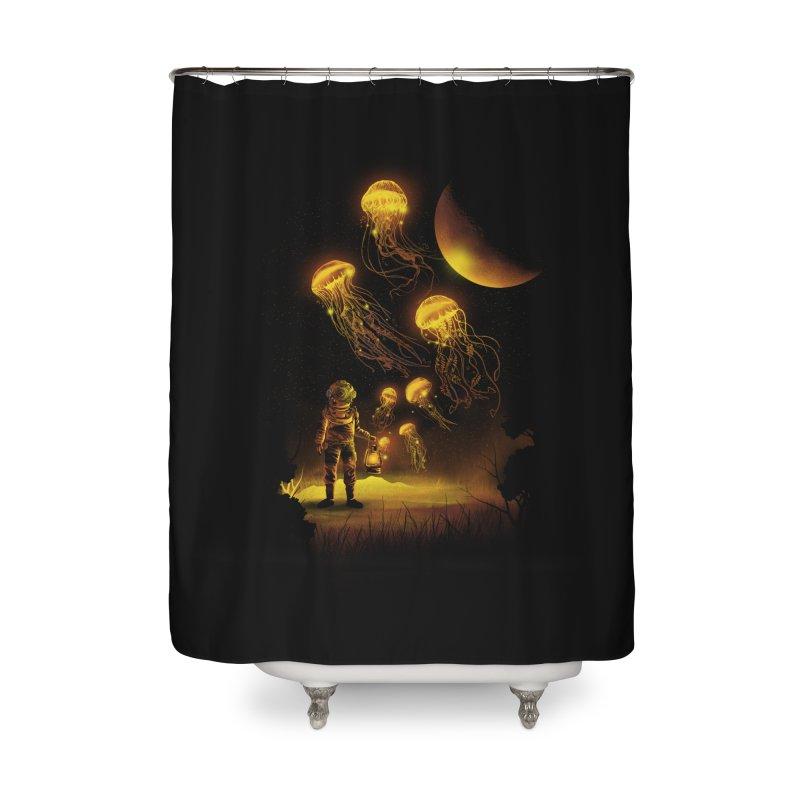 Deep Space Diver Home Shower Curtain by dandingeroz's Artist Shop
