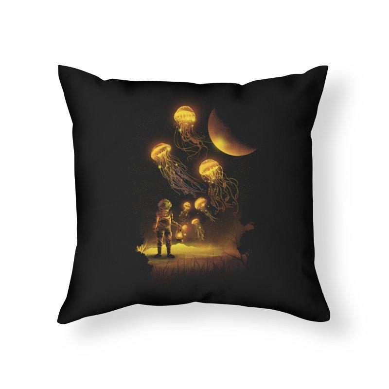 Deep Space Diver Home Throw Pillow by dandingeroz's Artist Shop