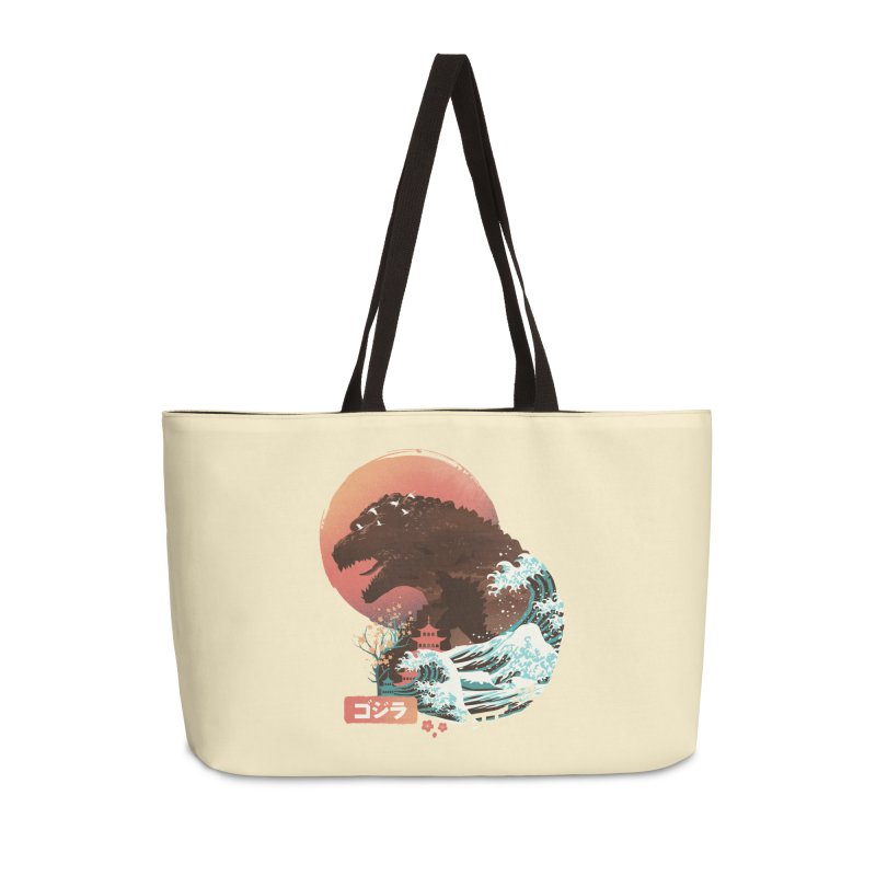 Kaiju UKiyo E Accessories Bag by dandingeroz's Artist Shop