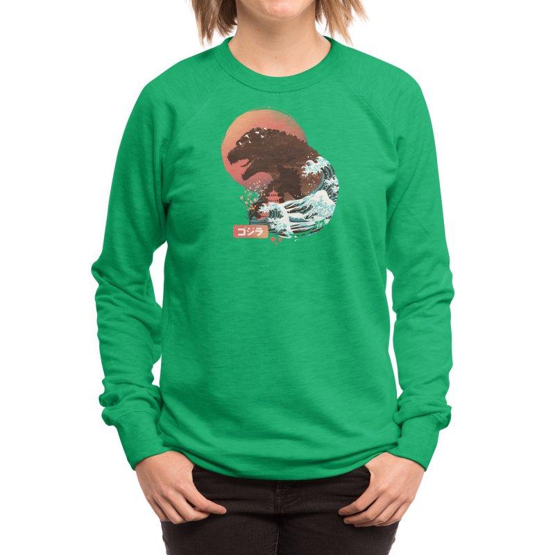 Kaiju UKiyo E Women's Sweatshirt by dandingeroz's Artist Shop