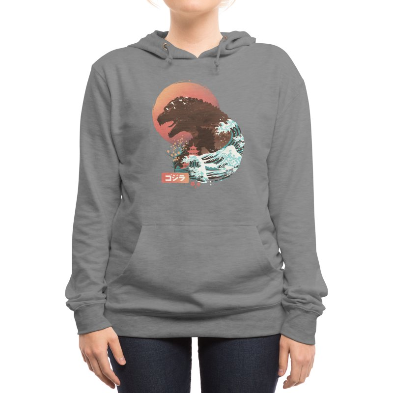 Kaiju UKiyo E Women's Pullover Hoody by dandingeroz's Artist Shop