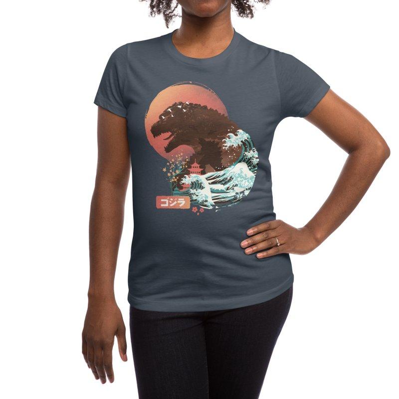 Kaiju UKiyo E Women's T-Shirt by dandingeroz's Artist Shop