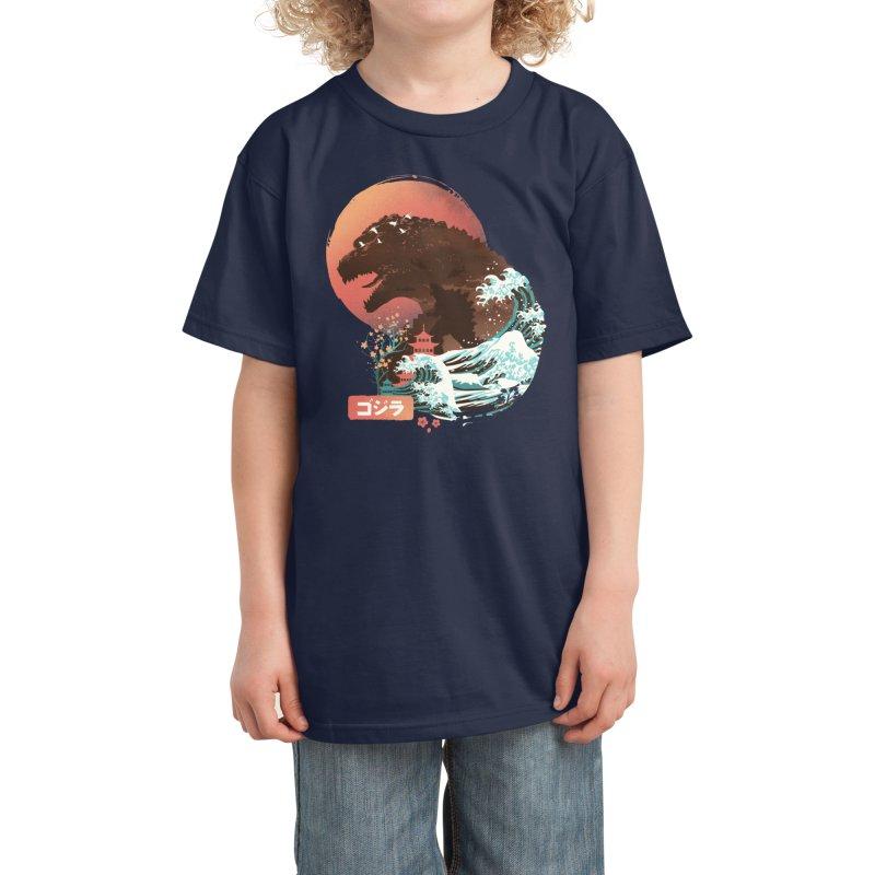 Kaiju UKiyo E Kids T-Shirt by dandingeroz's Artist Shop