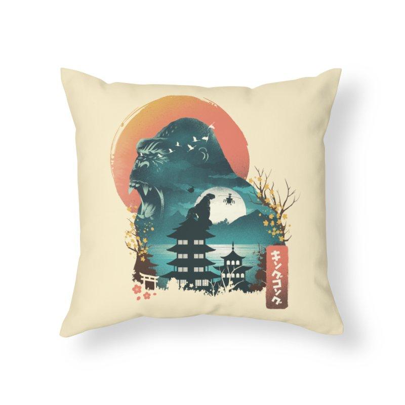 Edo King kong Home Throw Pillow by dandingeroz's Artist Shop