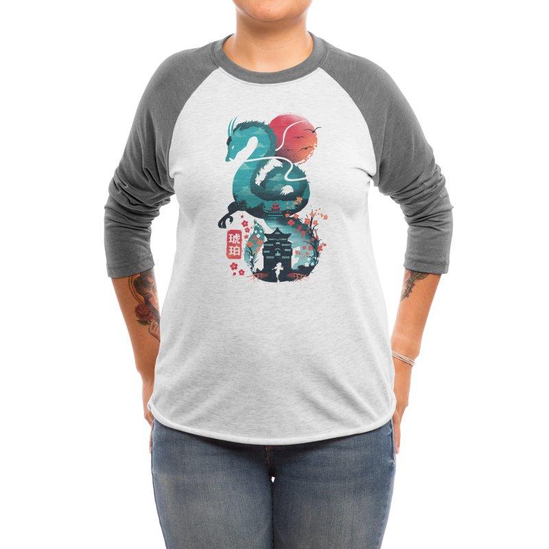 Ukiyo e Dragon Women's Longsleeve T-Shirt by dandingeroz's Artist Shop