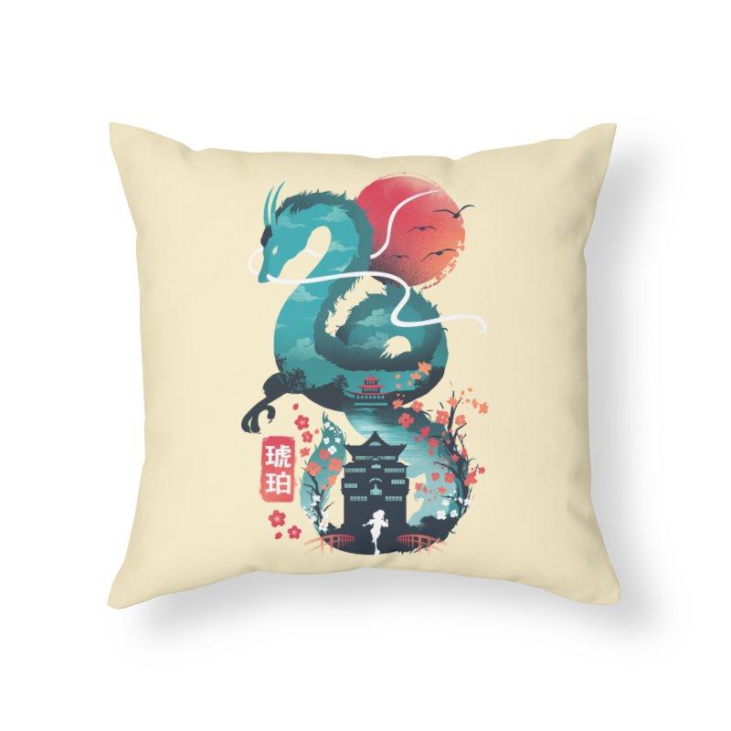 Ukiyo e Dragon Home Throw Pillow by dandingeroz's Artist Shop