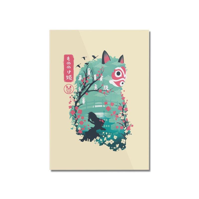 Ukiyo e Princess Home Mounted Acrylic Print by dandingeroz's Artist Shop
