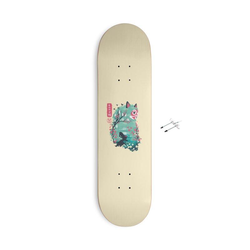 Ukiyo e Princess Accessories Skateboard by dandingeroz's Artist Shop