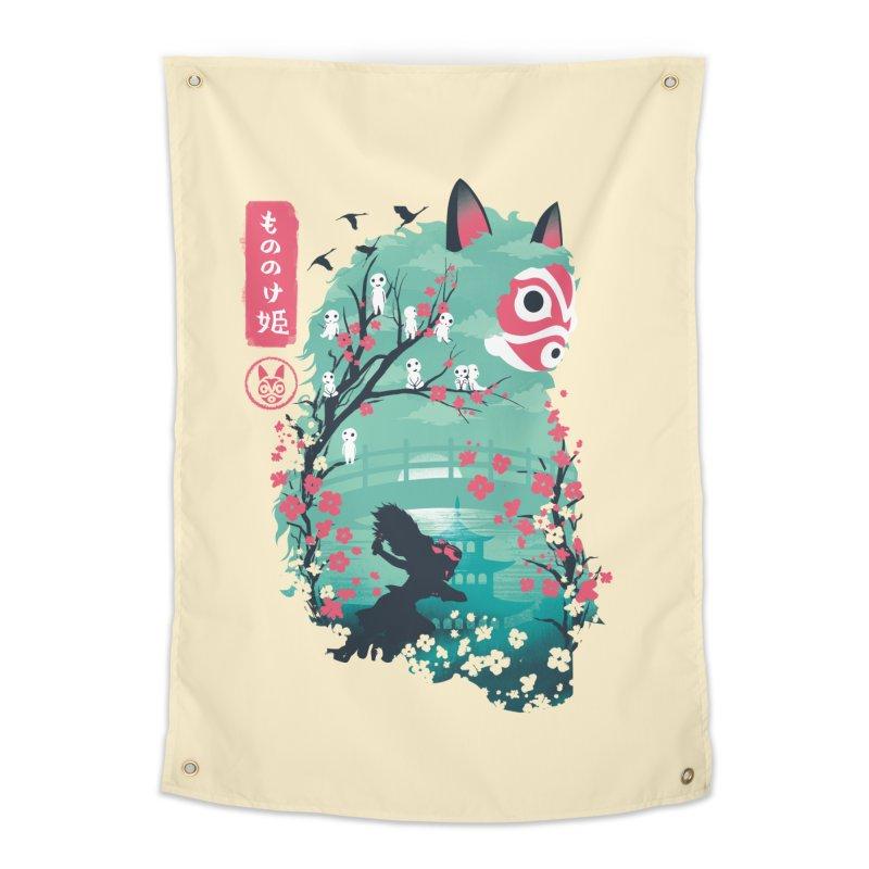 Ukiyo e Princess Home Tapestry by dandingeroz's Artist Shop