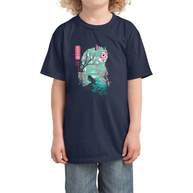 Ukiyo e Princess Kids T-Shirt by dandingeroz's Artist Shop
