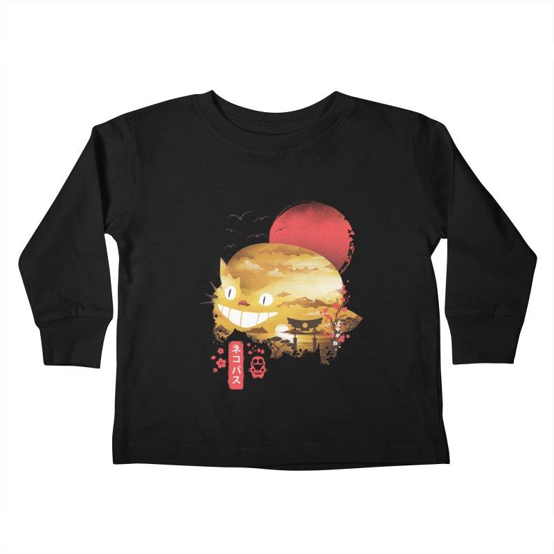 Ukiyo e Cat Kids Toddler Longsleeve T-Shirt by dandingeroz's Artist Shop