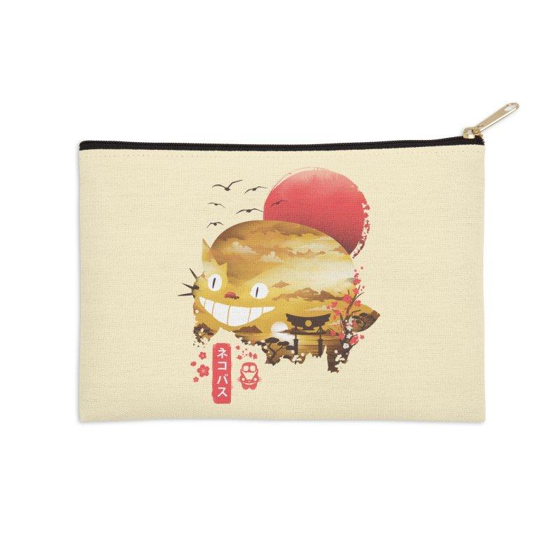 Ukiyo e Cat Accessories Zip Pouch by dandingeroz's Artist Shop