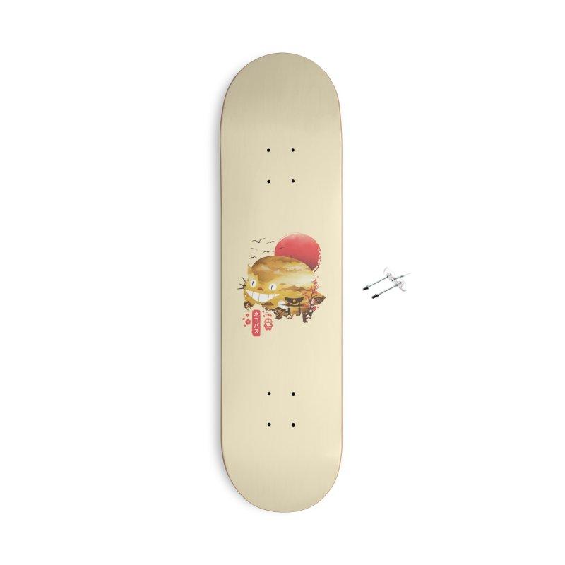 Ukiyo e Cat Accessories Skateboard by dandingeroz's Artist Shop