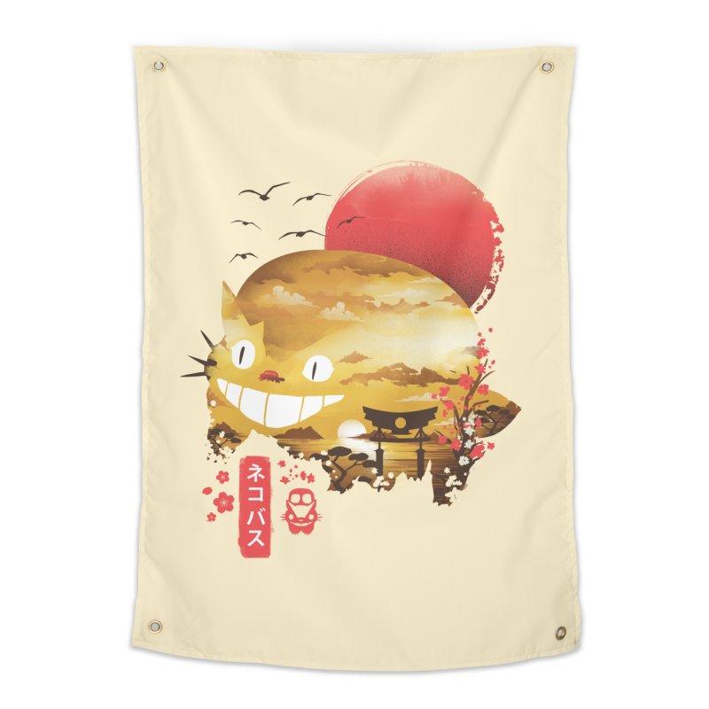 Ukiyo e Cat Home Tapestry by dandingeroz's Artist Shop