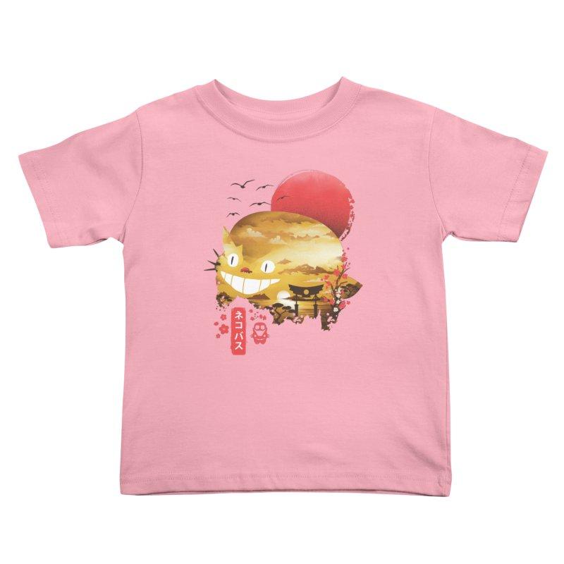 Ukiyo e Cat Kids Toddler T-Shirt by dandingeroz's Artist Shop