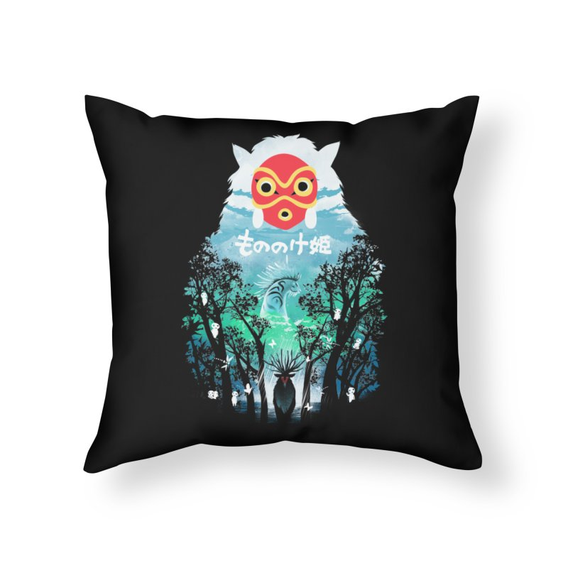 Forest Spirit Home Throw Pillow by dandingeroz's Artist Shop